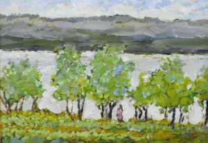 """Summer Trees, NB"" 9x12 oil on masonite"